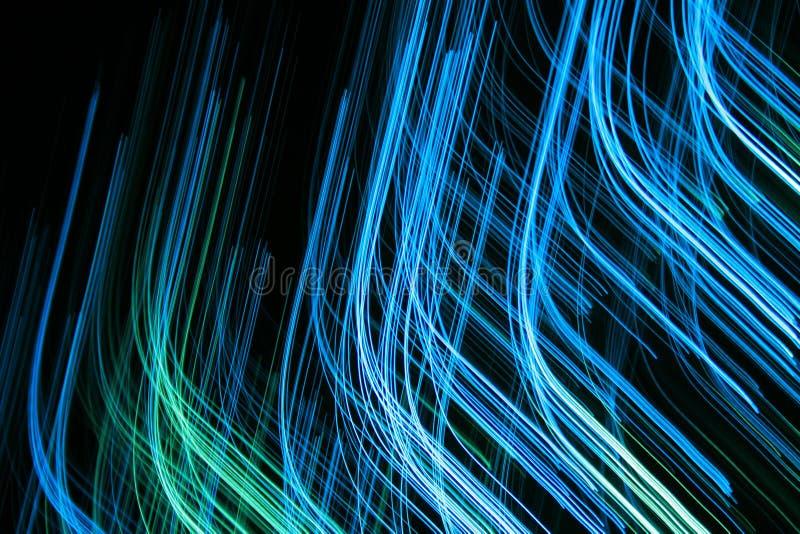 现代抽象的蓝线 免版税库存图片