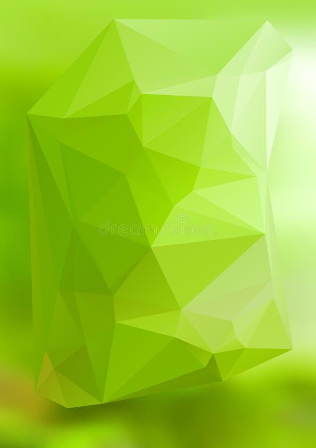 现代抽象背景三角3d作用发光的light41 向量例证