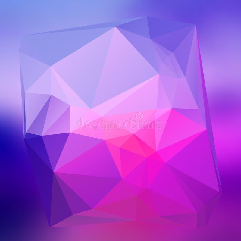 现代抽象背景三角3d作用发光的light71 向量例证