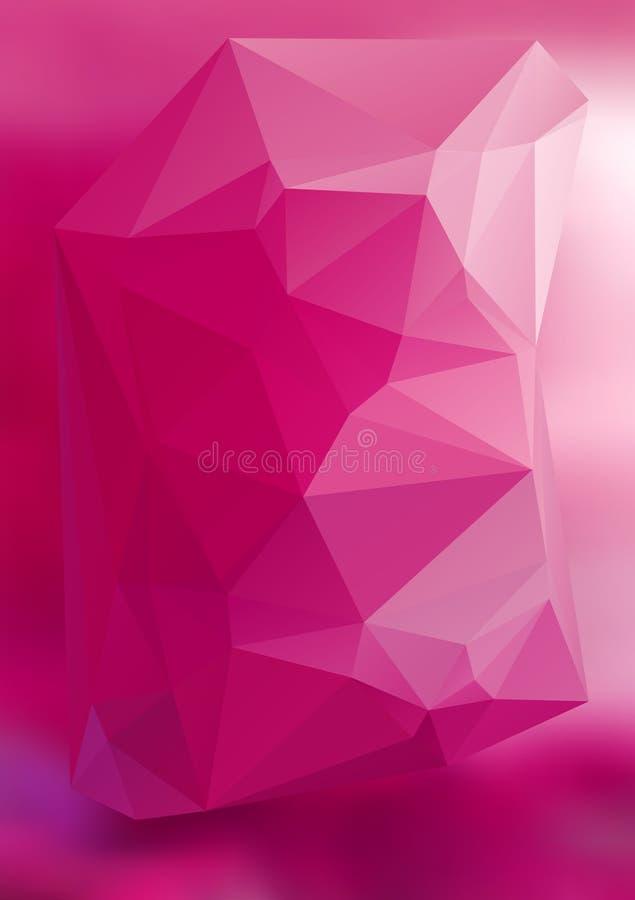 现代抽象背景三角3d作用发光的light42 皇族释放例证