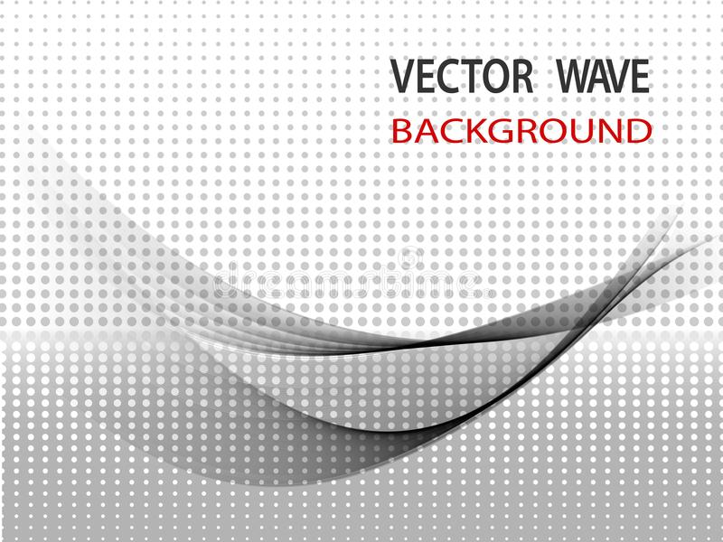 现代抽象高科技使波浪布局名片线背景光滑 向量例证