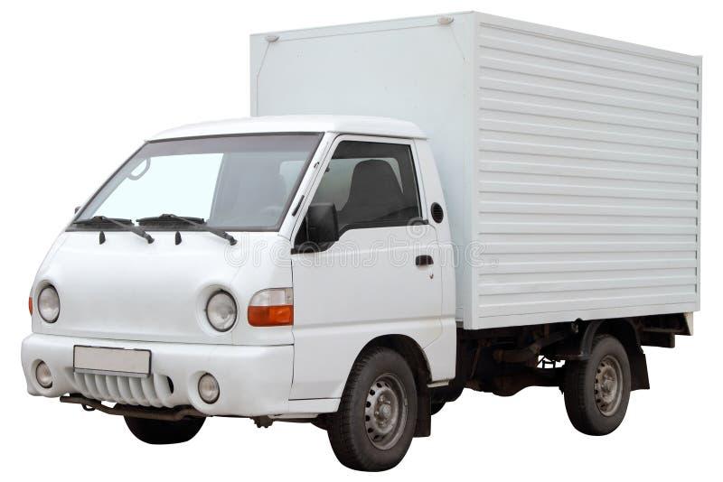现代搬运车,隔绝在白色背景 库存图片