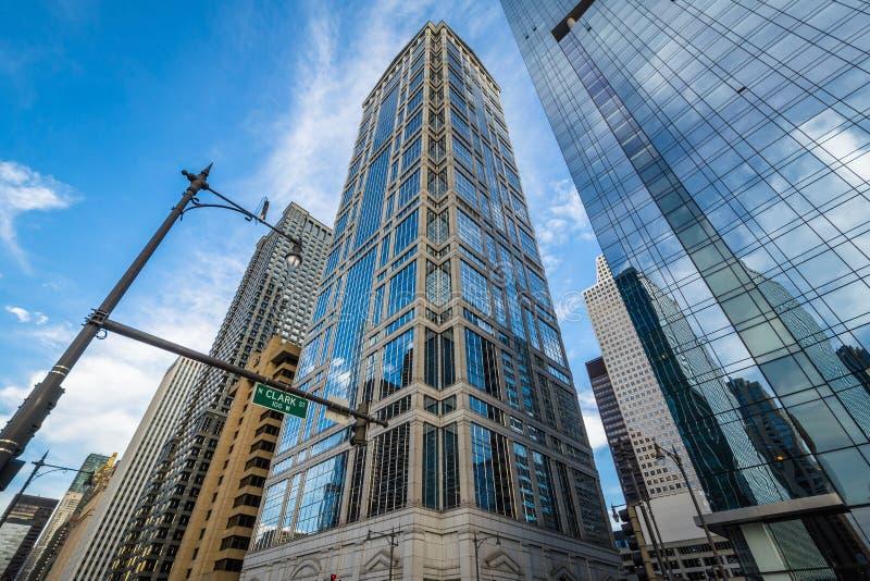 现代摩天大楼在芝加哥,伊利诺伊 库存图片