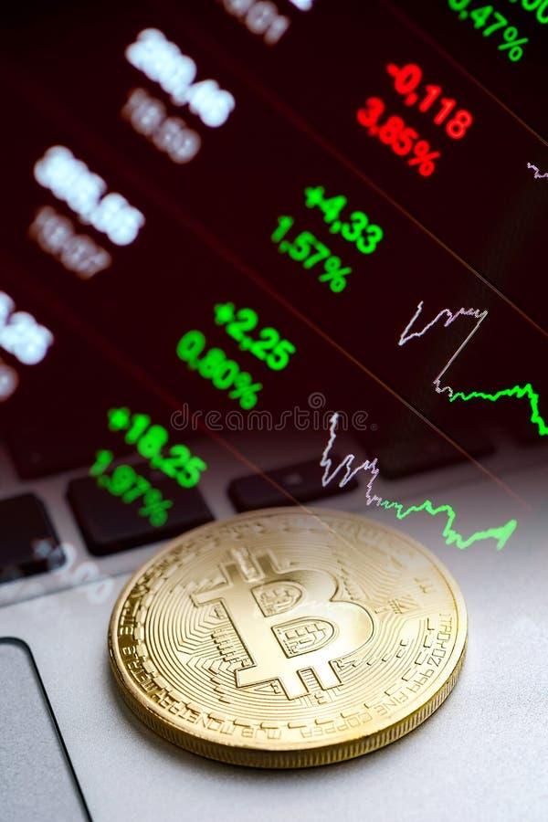 现代数字式隐藏货币概念 图库摄影