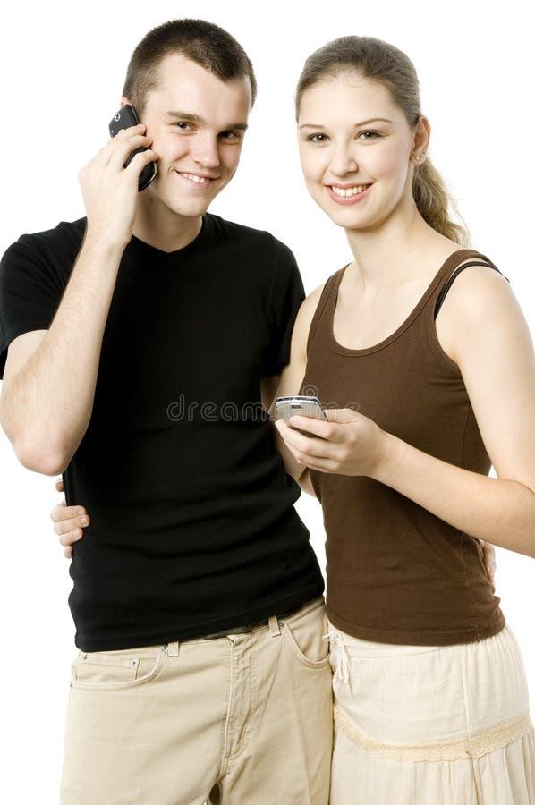 现代新夫妇 免版税库存图片
