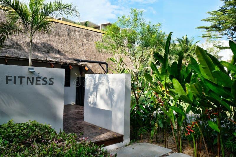 现代旅馆在普吉岛的泰国 免版税库存照片