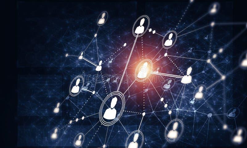 现代无线技术作为communucation和netwo手段  库存例证