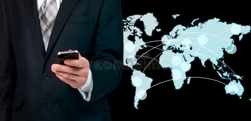 现代无线技术和社会媒介 免版税库存图片
