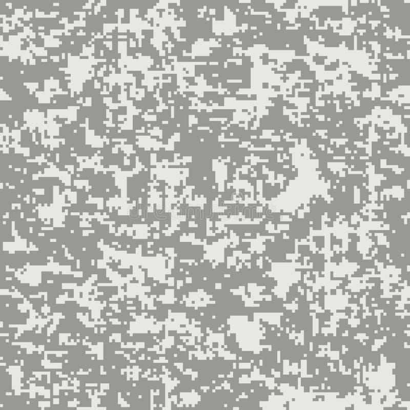现代时尚传染媒介时髦camo样式 数字式伪装无缝的样式 库存例证