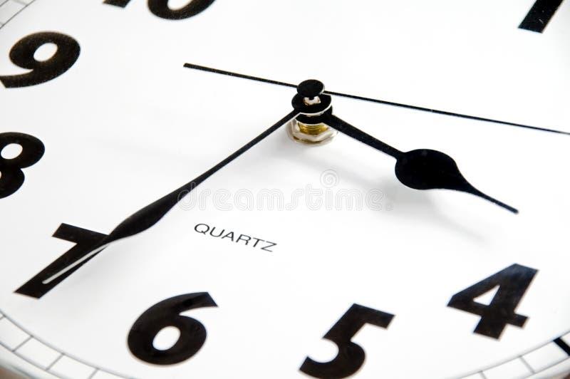现代时钟的详细资料 免版税库存照片