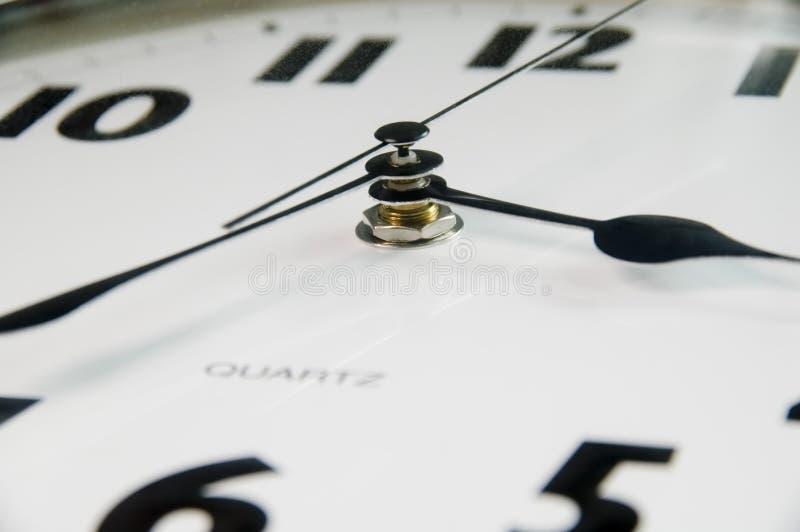 现代时钟的详细资料 免版税库存图片