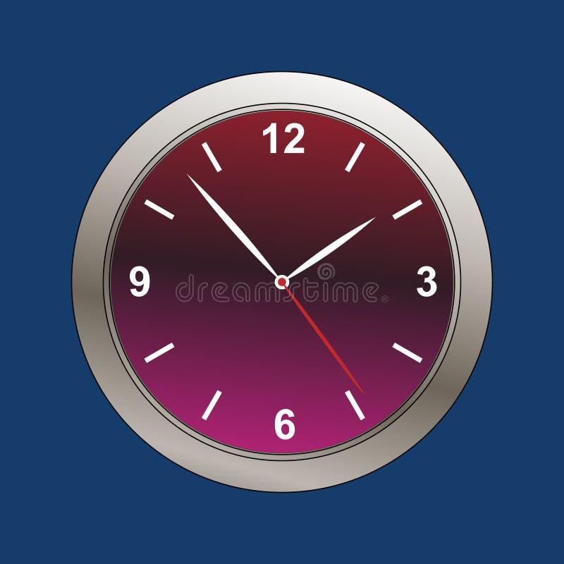 现代时钟表盘的例证 皇族释放例证