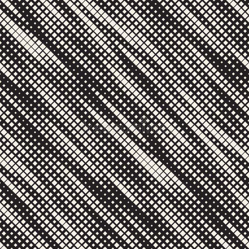 现代时髦的半音纹理 与任意大小正方形的不尽的抽象背景 导航无缝的混乱正方形样式 向量例证