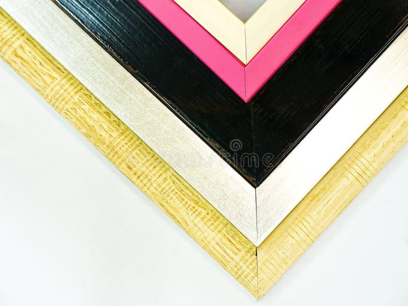 现代木相框 库存照片