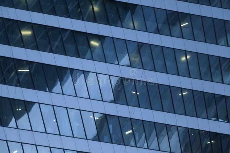 现代未来派玻璃修造的抽象背景 免版税库存照片
