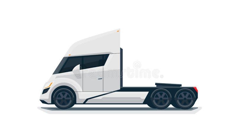 现代未来派被隔绝的半卡车 皇族释放例证