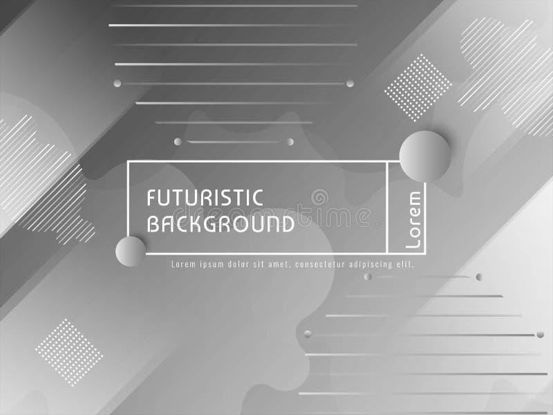 现代未来派techno背景 库存例证