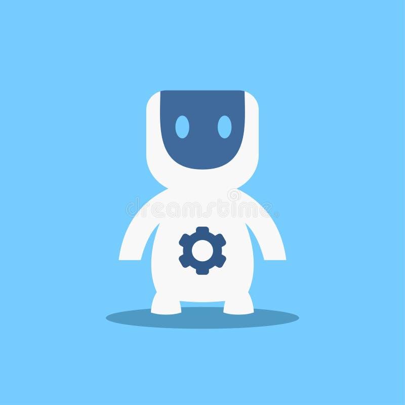 现代机器人,未来派人工智能机制技术平的传染媒介例证 向量例证