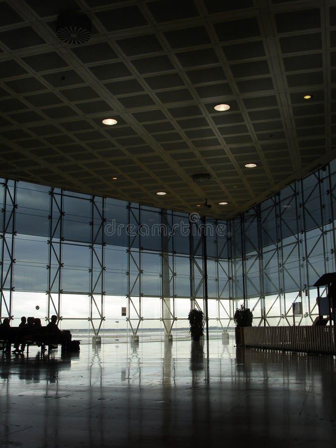 现代机场的大厅 库存照片