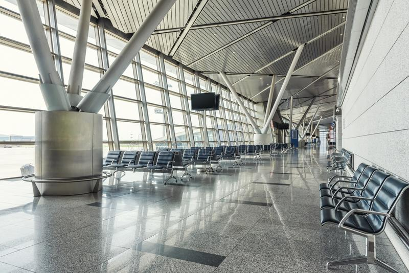 现代机场终端 免版税库存照片