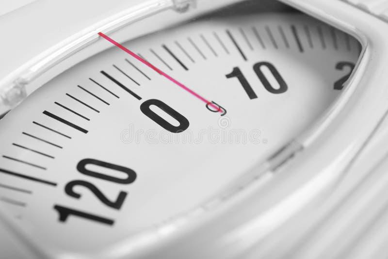现代标度 饮食损失重量 免版税库存图片