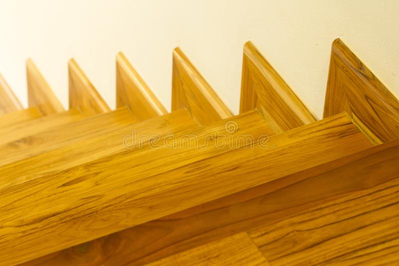 现代样式木台阶 库存照片