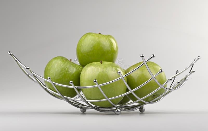 现代样式水果篮 免版税图库摄影