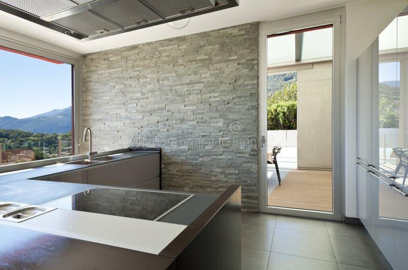 现代样式,厨房 免版税图库摄影
