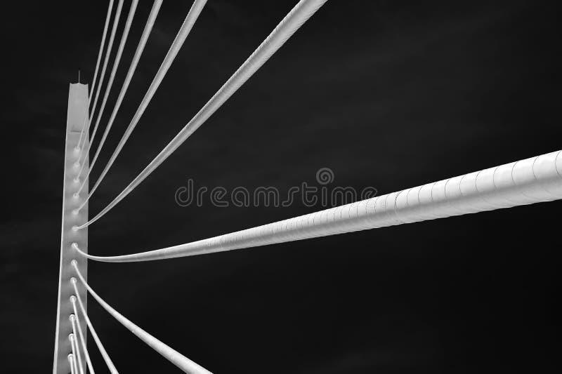 现代桥梁建筑学 免版税库存照片