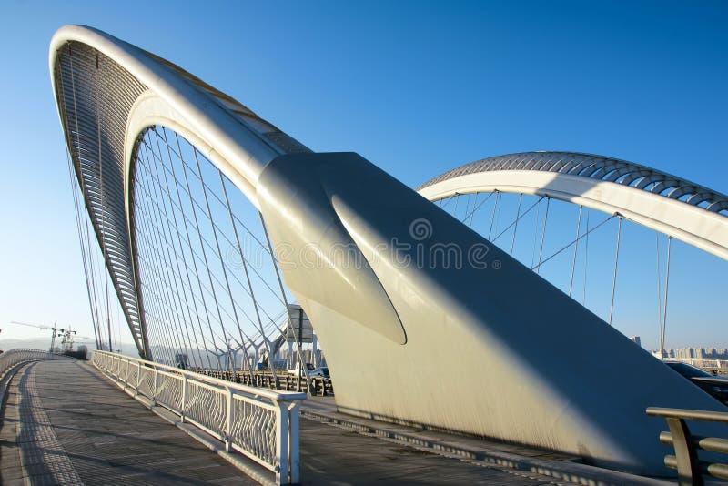 现代桥梁 免版税库存照片