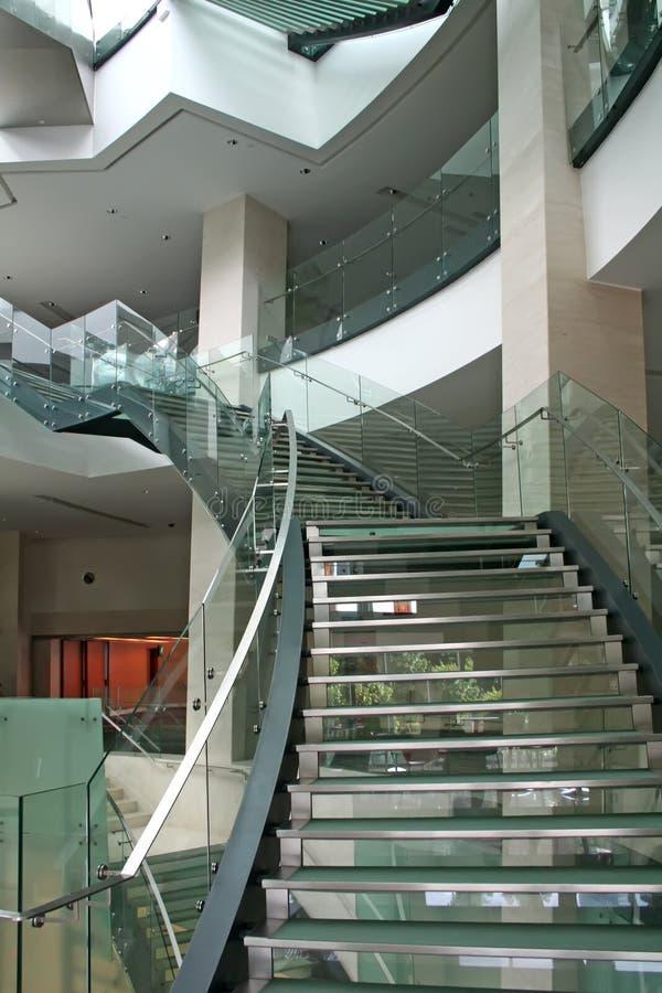 现代楼梯 免版税库存照片