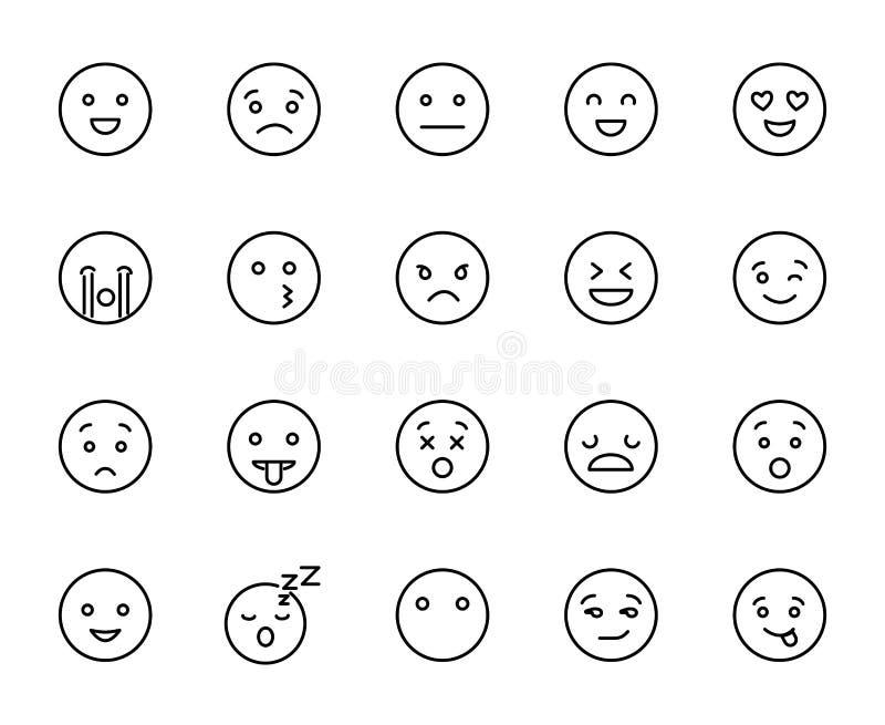 现代概述样式emoji象收藏 皇族释放例证