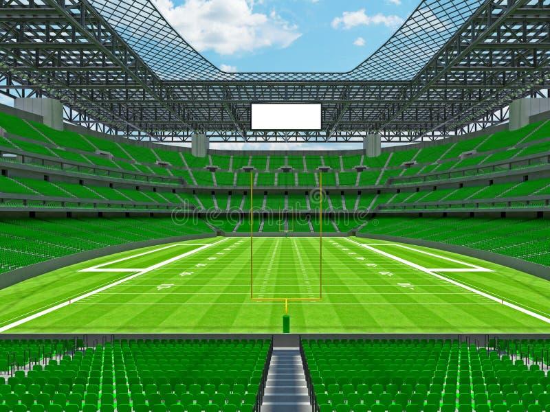 现代橄榄球体育场与geen位子 库存例证