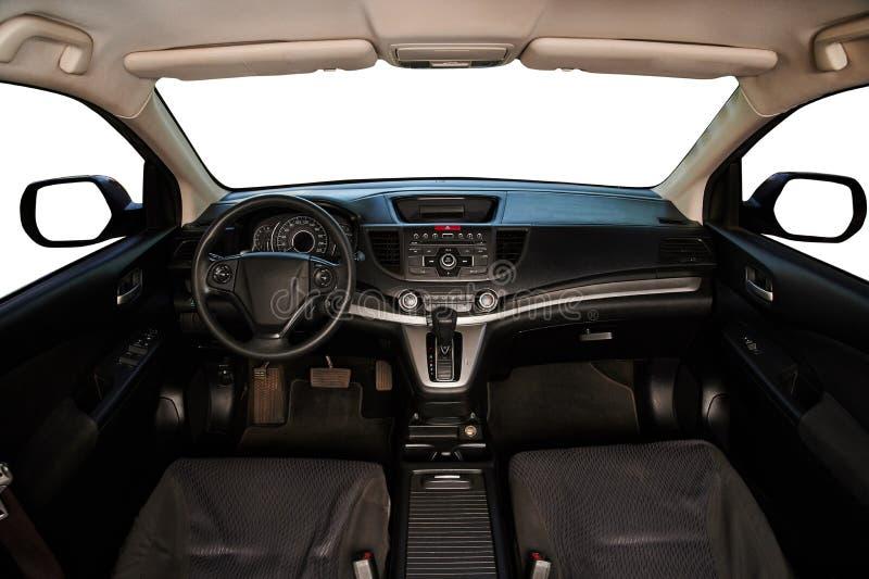 现代汽车干净的内部  免版税库存图片