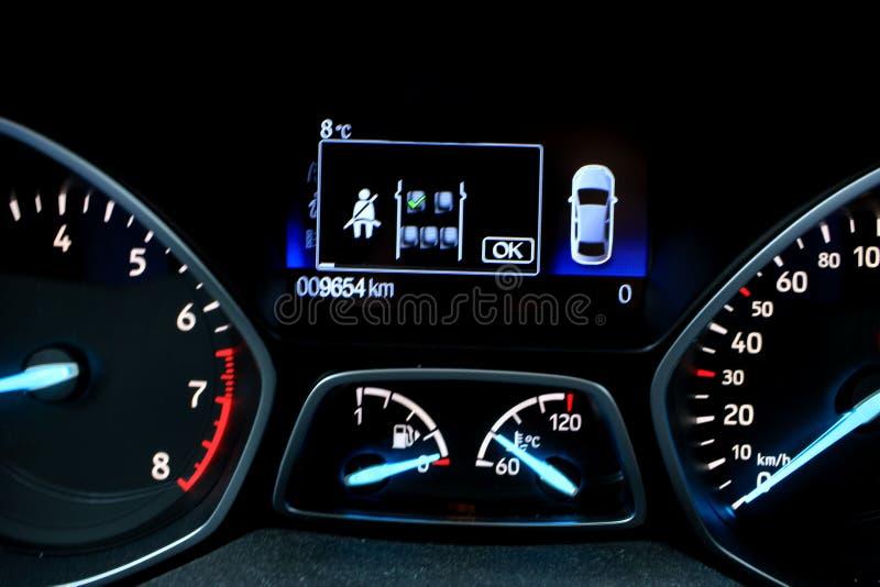 现代汽车的控制板 免版税图库摄影