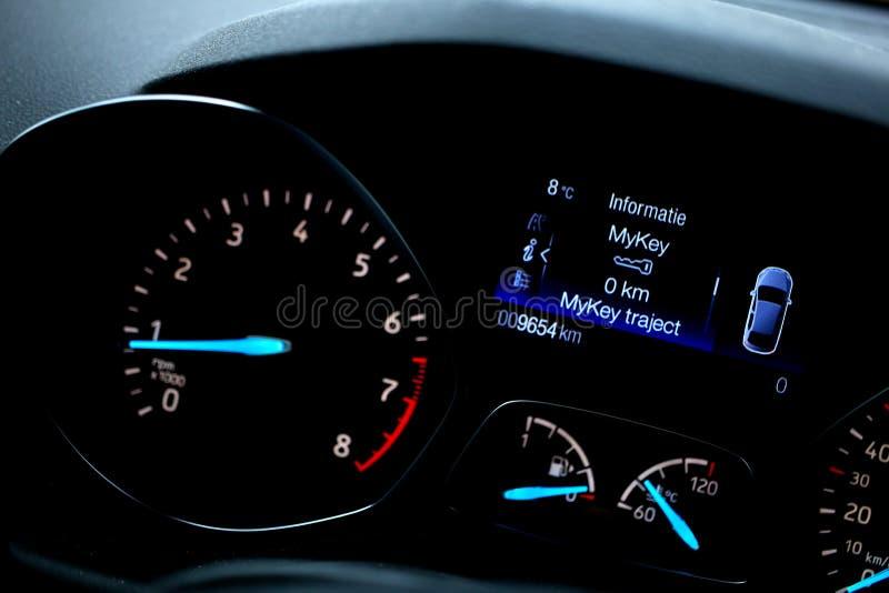 现代汽车的控制板 库存图片