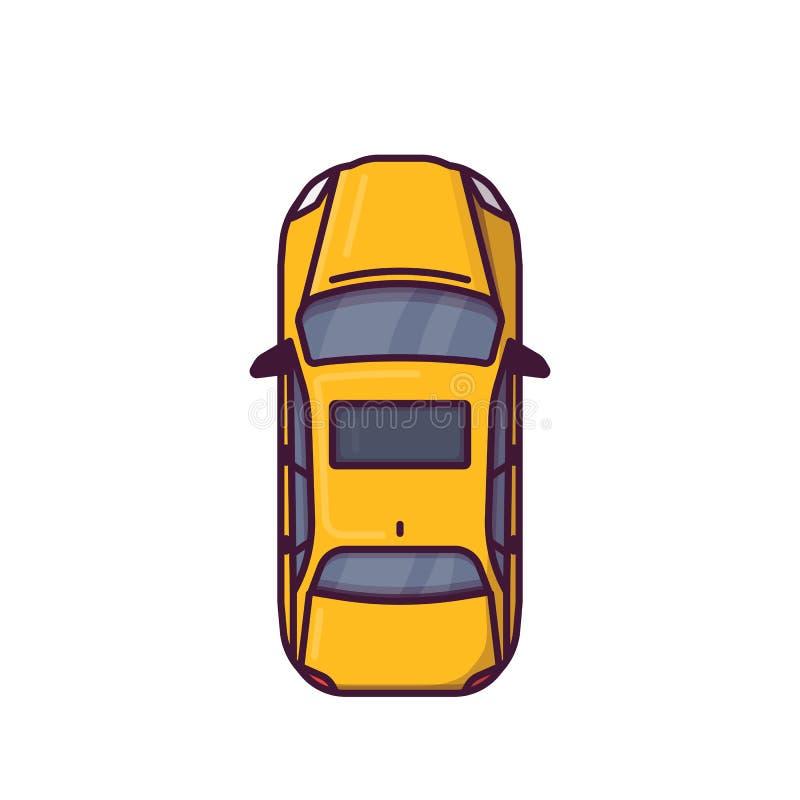 现代汽车顶视图  库存例证