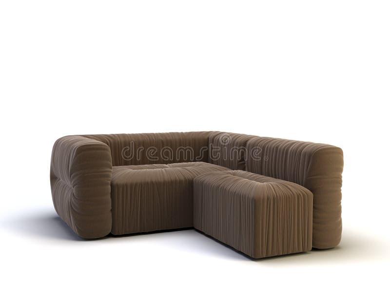 现代沙发 向量例证