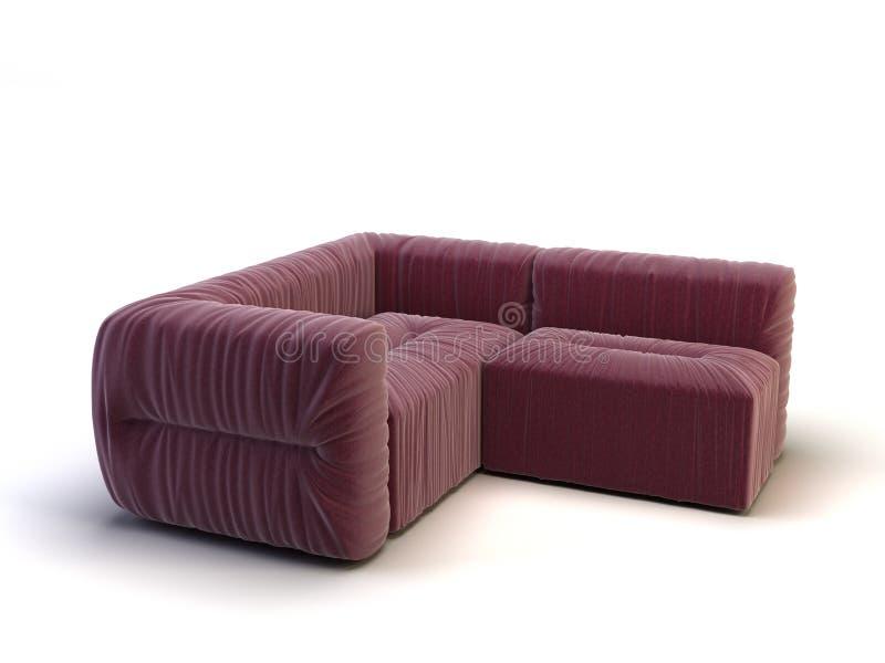 现代沙发 库存例证