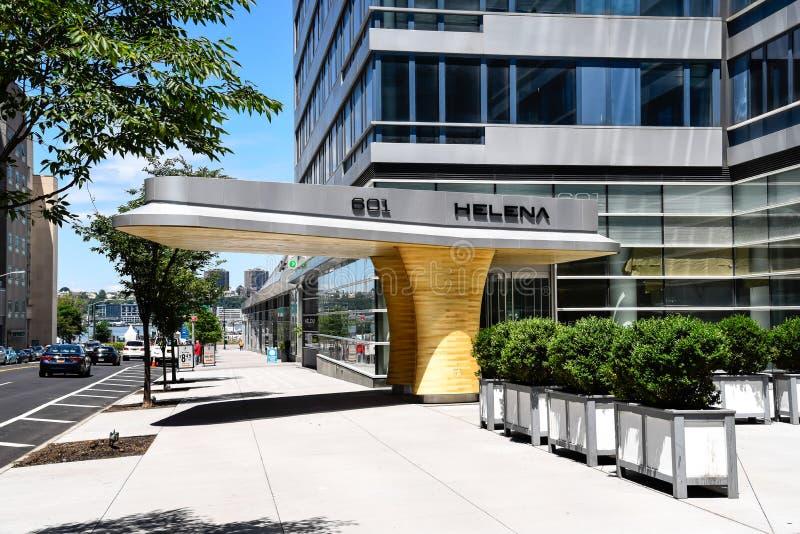 现代派门机盖在纽约 图库摄影