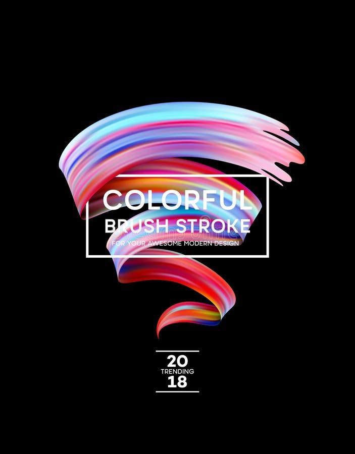 现代海报的明亮的颜色油漆污点 Tranding设计 也corel凹道例证向量 库存例证