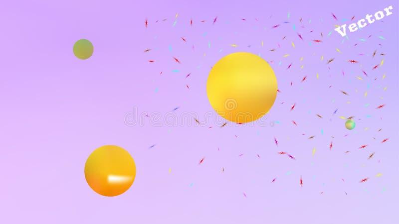 现代液体抽象空间的背景画面 向量例证
