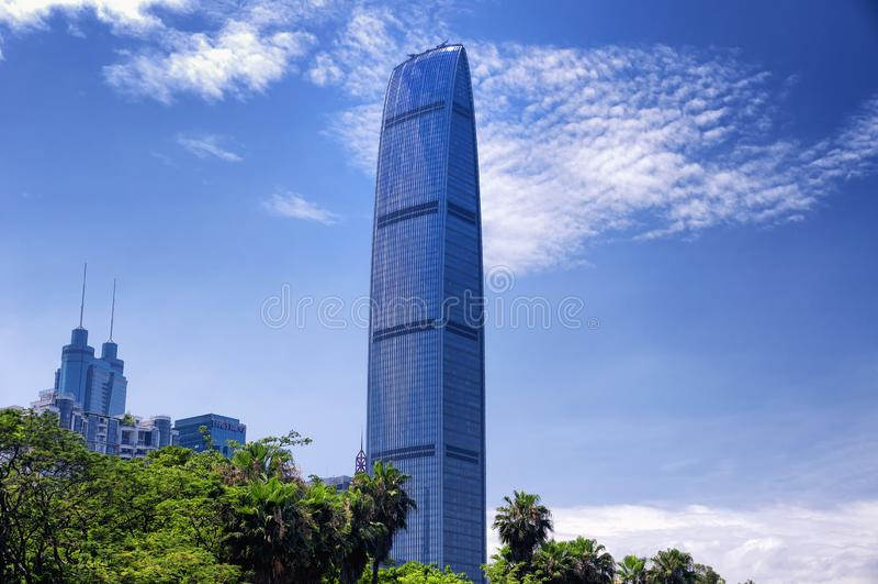 现代玻璃摩天大楼深圳中国 免版税库存照片