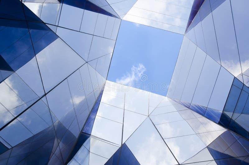 现代玻璃结构 库存照片