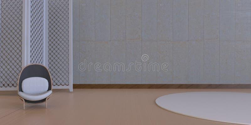现代生活和美丽的当代安装的大厅 库存图片
