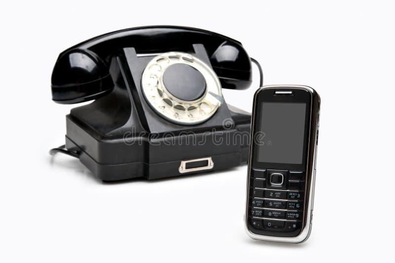 现代电话葡萄酒 免版税库存图片