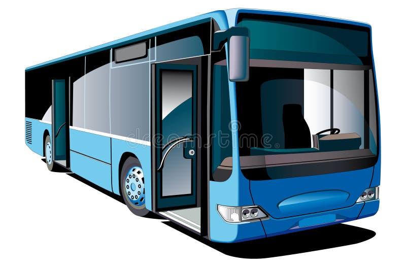 现代的公共汽车 皇族释放例证