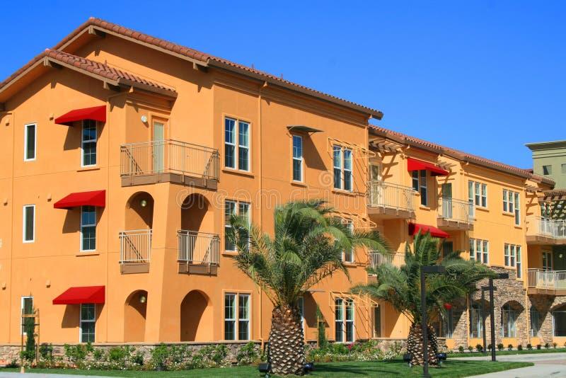 现代的公寓住宅区 库存照片