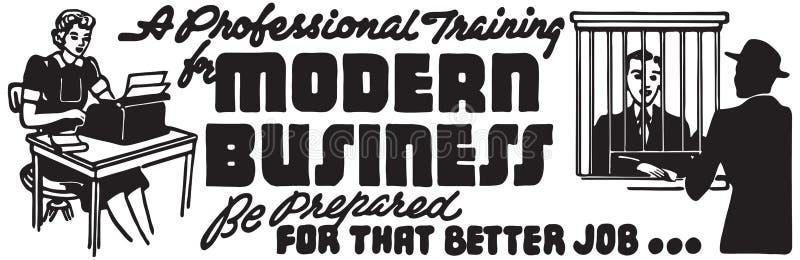 现代的商业 库存例证