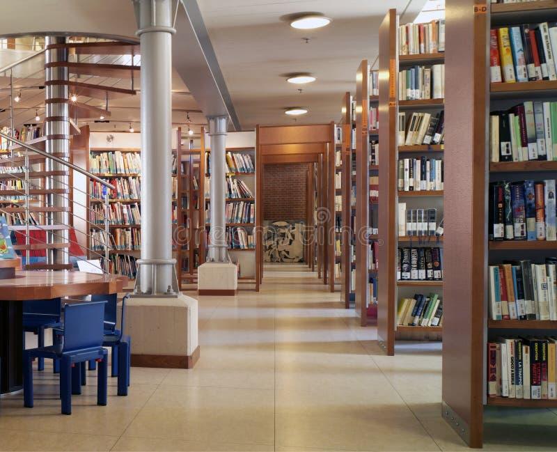 现代的图书馆 库存照片